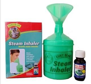 Euky Bear Steam Inhaler ( 200ml liquid ) For Sinus / Nose Block