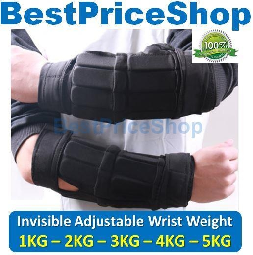 Adjustable & Invisible Wrist Weight Martial Art Boxing Basketball Arm
