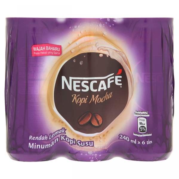 Nescafé Mocha Milk Coffee Drink 6 x 240ml