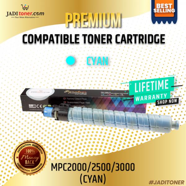 Compatible MPC2000 / 2500 / 3000 Cyan Toner Cartridge For Ricoh