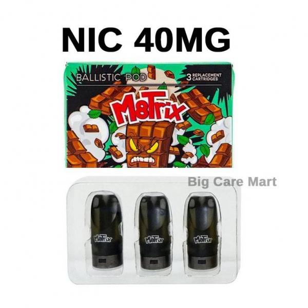 Vape Pods Ballistic M8trix LemonTart Nic 40mg 3pc