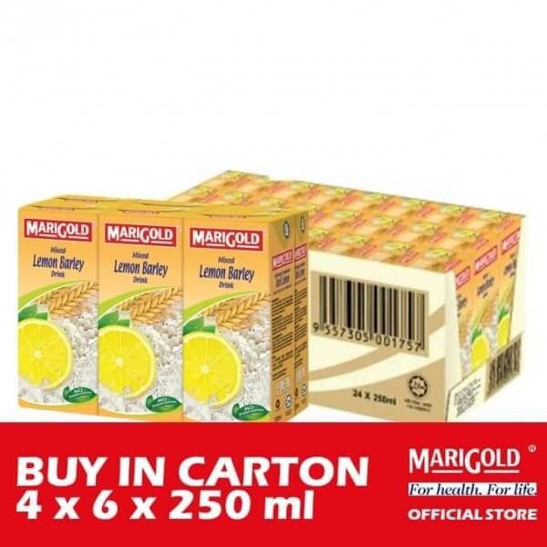 Marigold Asian Drink - Mixed Lemon Barley 4 x 6 x 250ml