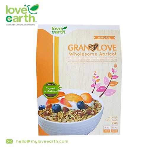 LOVE EARTH WHOLESOME APRICOT GRANOLOVE 300g