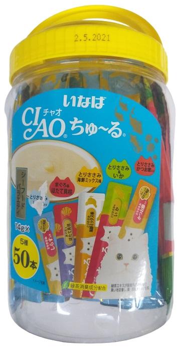Ciao Churu Seafood Variety Instant Wet Cat Treats 700g (14g x 50 Stick)