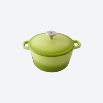 [TAITRA] [FLAMBO] Enamel Mini Dutch Oven - MINI (16CM) Grass Green