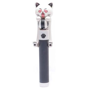 [TAITRA] Cat Aluminum Alloy Wired Selfie Stick (Black)