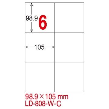[TAITRA] LONGDER Tri-Use Printing Computer Label LD-808-W-C/6 Grids