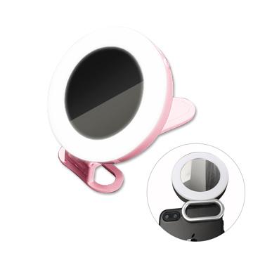 PICKOGEN Magic Mirror Wide Angle Mirror Beauty Fill Light Pink