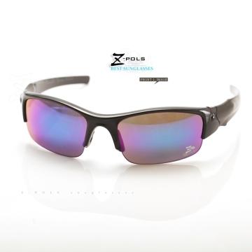 (Z-POLS)[Depending Ding Z-POLS children Earmarked] black textured paint colorful explosion safety plated frame design lens comfort Sports Sunglasses!