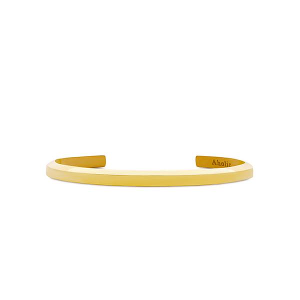 (Aholic)Aholic CUFF Classic Bracelet - Women's Classic Gold