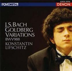 (DENON)DENON 列夫席茲(Konstantin Lifschitz)/巴哈: 郭德堡變奏曲[Bach: Goldberg Variations]【1CD】
