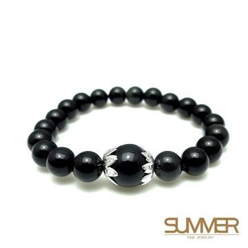[SUMMER gems] obsidian design bracelet (randomly shipped SB30)