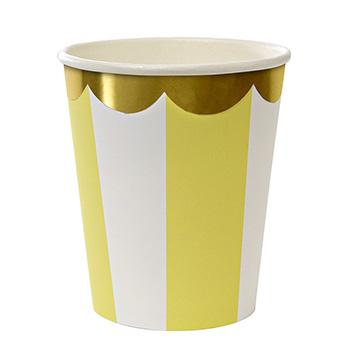(美國MERI MERI)US MERI MERI [series] party sweet child modeling Cup group - yellow stripe