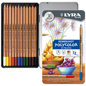 Germany LYRA [professional] Rembrandt oil color pencils (12 colors iron boxed)