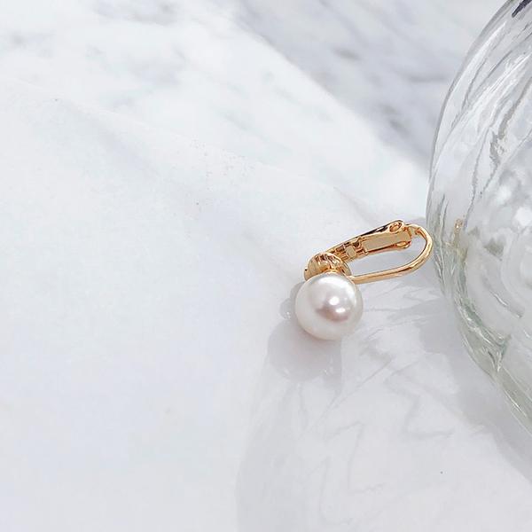 (SOO&SOO)【HUAYUE】 SOO&SOO one ear pearl earrings