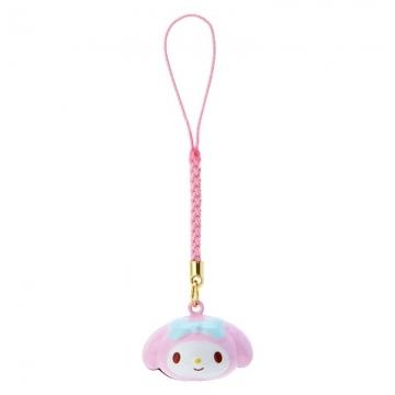小禮堂 美樂蒂 造型鈴鐺吊飾 鈴鐺鑰匙圈 金屬吊飾 (粉藍 大臉)
