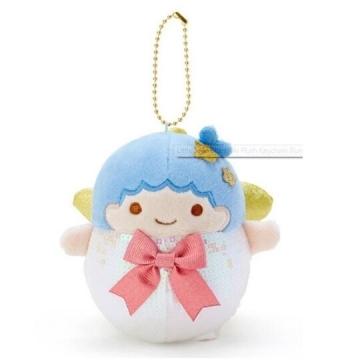 小禮堂 雙子星KIKI 亮片絨毛玩偶娃娃吊飾《藍白》掛飾.鑰匙圈.聖誕