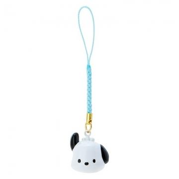 小禮堂 帕恰狗 造型鈴鐺吊飾 鈴鐺鑰匙圈 金屬吊飾 (白綠 大臉)