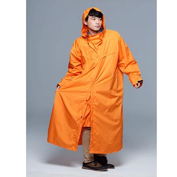 French Paris Rainbow simple long raincoat / Orange