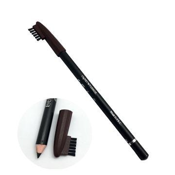 Eyebrow eyeliner with brush cap (coffee)