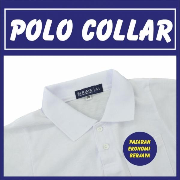 T Shirt Berkolar Lengan Pendek Putih Tshirt Putih White Shirt Tshirt Plain White Plain Baju Kosong