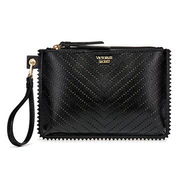 (Victoria's Secret)Victoria's Secret Angel Sweetheart Small Hole Bright Leather Hand Strap Large Handbag (Black)