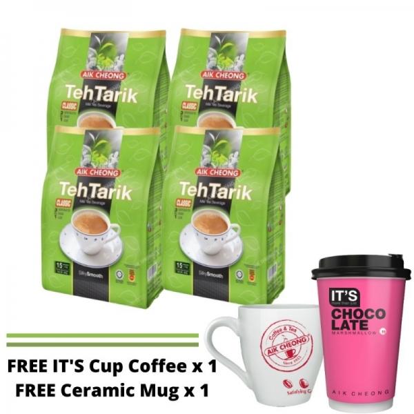 Bundle of 4 Teh Tarik Classic FREE MUG + IT'S Cup x1
