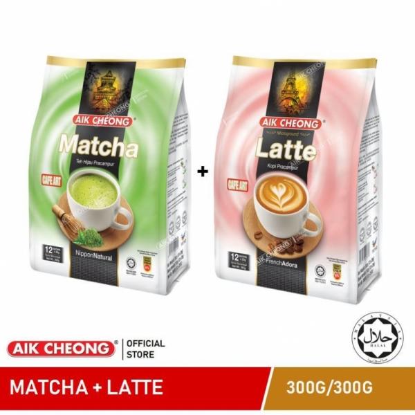 AIK CHEONG Cafe Art Matcha 300g +Latte 300g