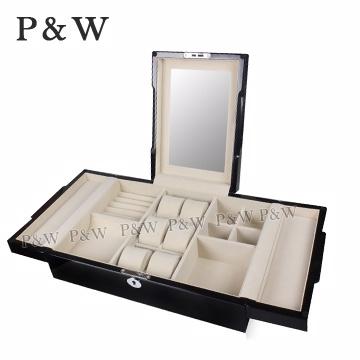 (P&W)[P & W] [handmade jewelry collection box] Gifts piano paint wooden jewelry box watch box +