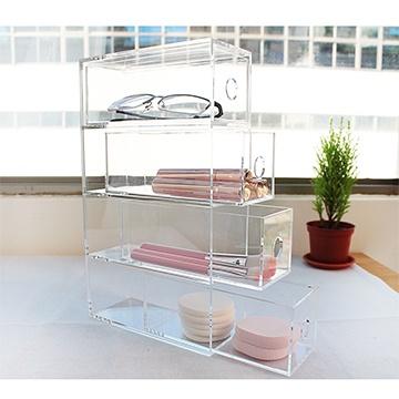 [Follower Trojan] Four drawers crystal bright cosmetics storage cabinet