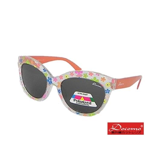 Professional designed for children under special polarized glasses cute girls transparent flower frame design texture orange temples super UV