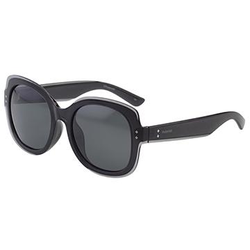 Polaroid 寶麗萊 時髦造型 偏光太陽眼鏡 (灰黑色)