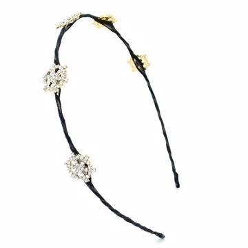 (charme)Charme Korean pop snowflake shape k yellow headbands