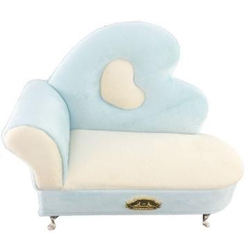 Cinnamoroll Sofa Shaped Jewelry Storage Box Fluffy Jewelry Box Jewelry with Mirror (Blue & Beige)