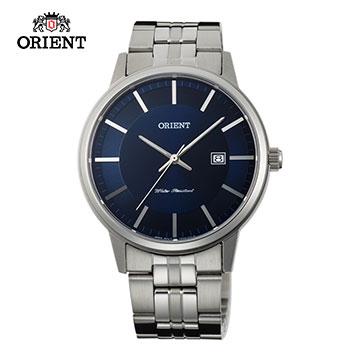 (ORIENT)ORIENT Orient Watch SLIM series of elegant sapphire crystal digital quartz watch men strip section FUNG8003D blue - 40mm