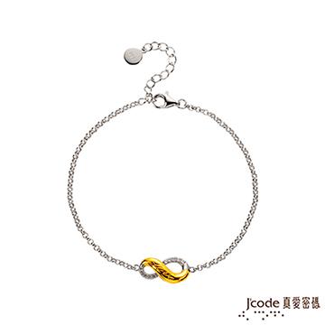 (J\'code)Jcode loves password sharing love gold / sterling silver bracelet