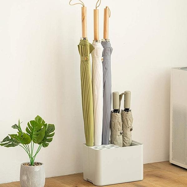 (SP SAUCE)Japan SP SAUCE neat and beautiful 15 compartment umbrella storage rack (white)