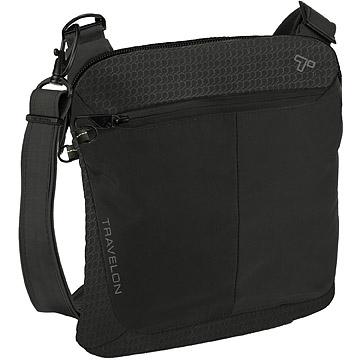 (TRAVELON)TRAVELON RFID anti-theft square messenger bag (black)