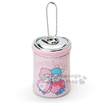 雙子星 罐頭造型化妝包《粉.草莓》吊飾.零錢包.收納包