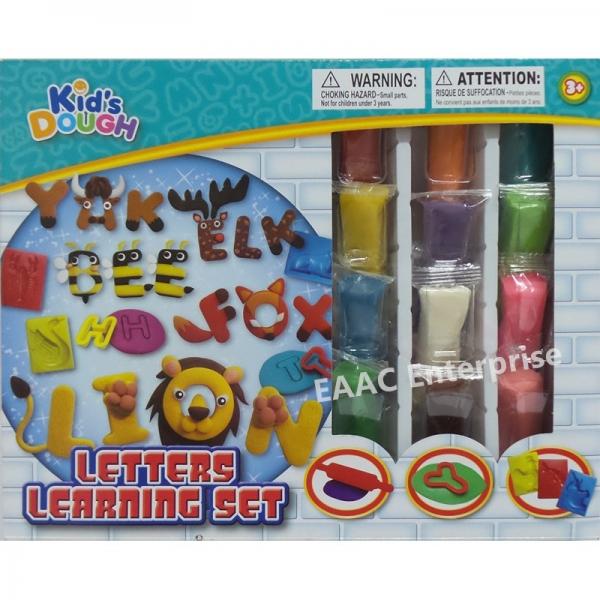 Kid\'s Play Doh Dough Plasticine ABC Alphabet Mould 12 colours Dough