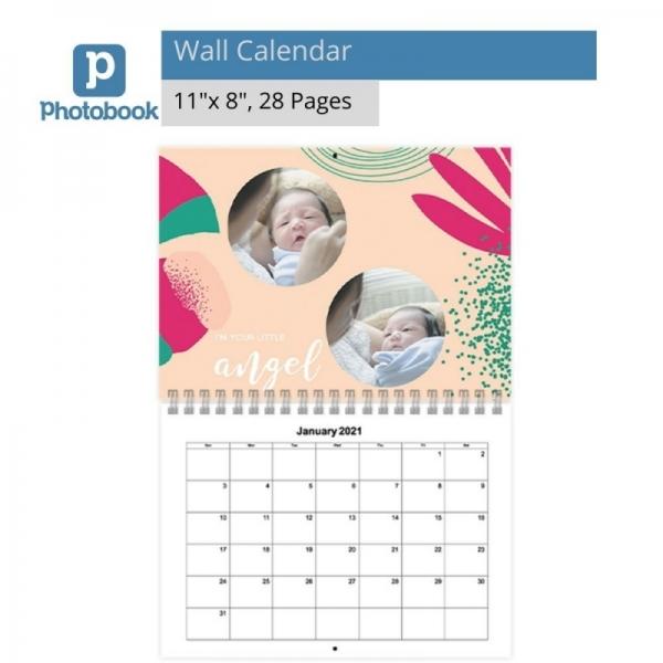 """11"""" x 8"""" Wall Calendar [e-Voucher] Photobook"""