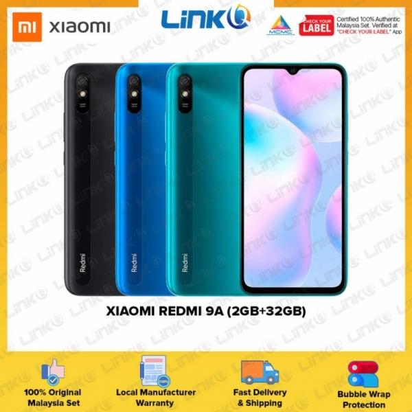 [Ready Stock] Xiaomi Redmi 9A (2GB RAM + 32GB ROM) Smartphone - Original 1 Year Warranty by Xiaomi Malaysia (MY SET)