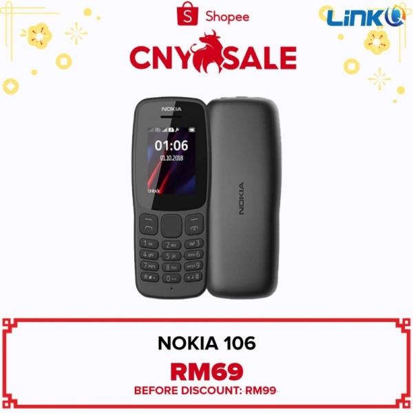 Nokia 106 (4MB RAM + 4MB ROM) Mobile Phone - Original 1 Year Warranty by NOKIA Malaysia (MY SET)