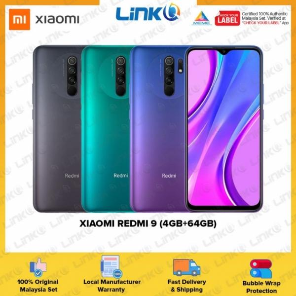 Xiaomi Redmi 9 (4GB RAM + 64GB ROM) Smartphone - Original 1 Year Warranty by Xiaomi Malaysia (MY SET)