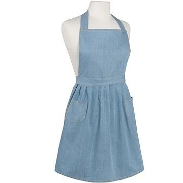 (NOW)NOW classic double bag apron (light tannin)