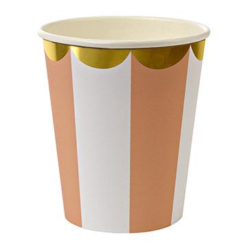 (美國MERI MERI)US MERI MERI [series] sweet home style party cup set - Orange Stripe