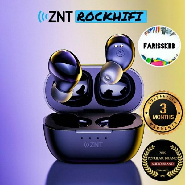 ZNT RockHiFi Bluetooth Earphone Earpod Bluetooth Wireless Earbud Super HiFi Sound Built in Mic Touch Control Waterproof