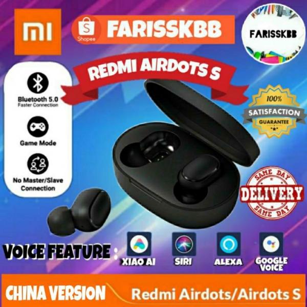 [UPGRADED] XIAOMI REDMI AIRDOTS S REDMI AIRDOTS TWS MI TRUE WIRELESS EARBUDS EARPHONE BLUETOOTH 5.0 VOICE CONTROL GAMING