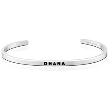 (MANTRABAND)MANTRABAND OHANA family life and support silver bracelet Hawaiian version