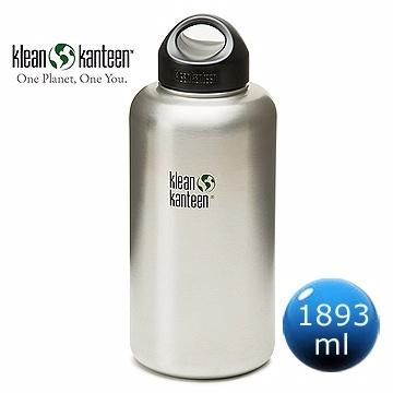 (Klean Kanteen)American Klean Kanteen Wide Cold Water Bottle 1893ml - Original Steel